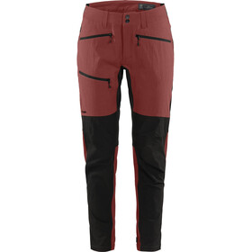 Haglöfs Rugged Flex Pantalones Mujer, maroon red/true black